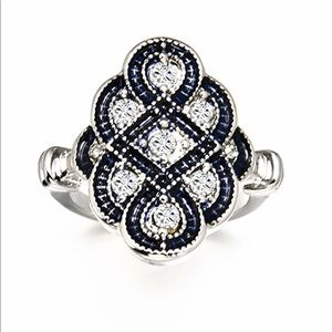 Jewelry - Art Deco Sapphire Sterling Silver Ring